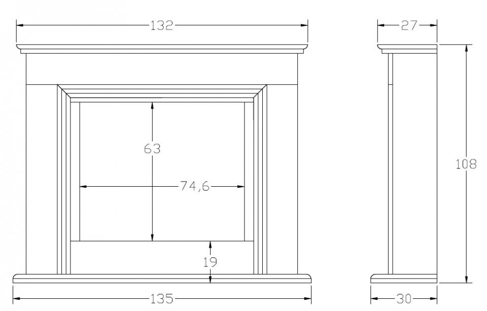 Размеры портала для камина сделанного своими руками 822