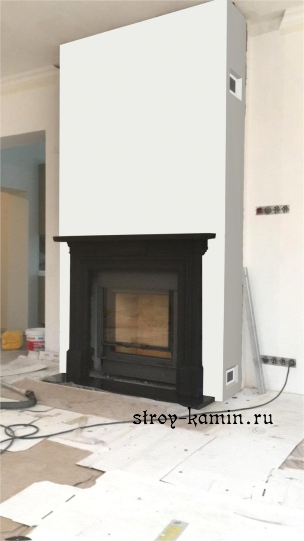 Камин Stovax Georgian Cast Iron Mantel (чугунный портал)