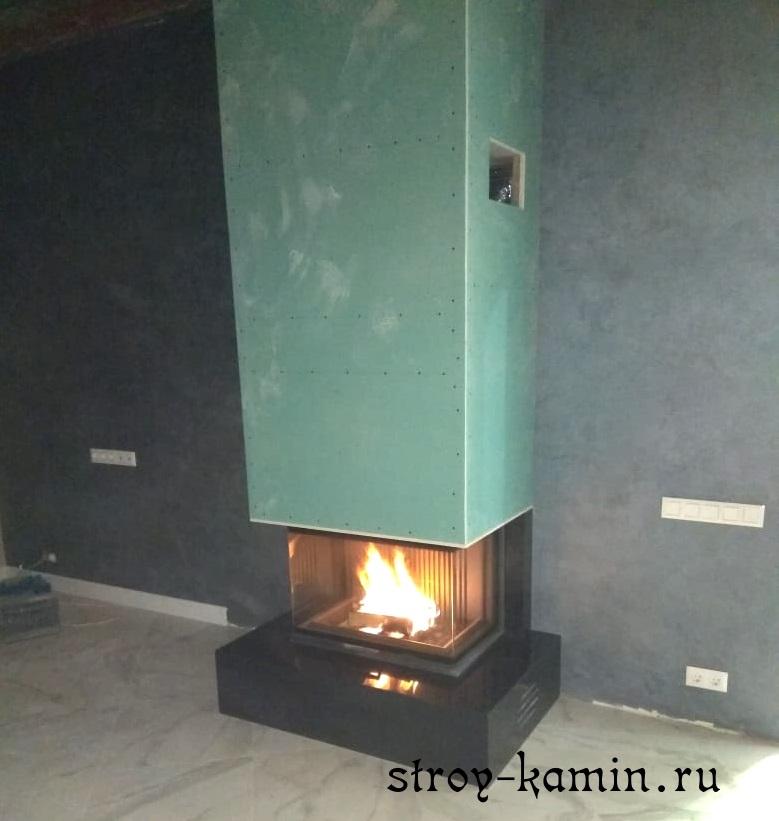 Недорогая облицовка камина отвод дымохода сталь спб
